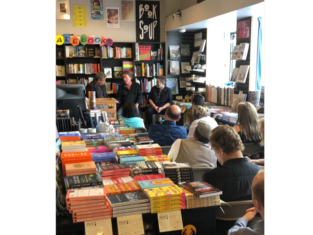 15 SEPTEMBER 2019: THE FIRST BOOK SIGNING IS AT THE ICONIC BOOK SOUP ON THE SUNSET STRIP. THE EVENT IS HOSTED BY CRITIC AND AUTHOR RAY RICHMOND. CLICK THE PHOTO FOR THE FULL STORY.