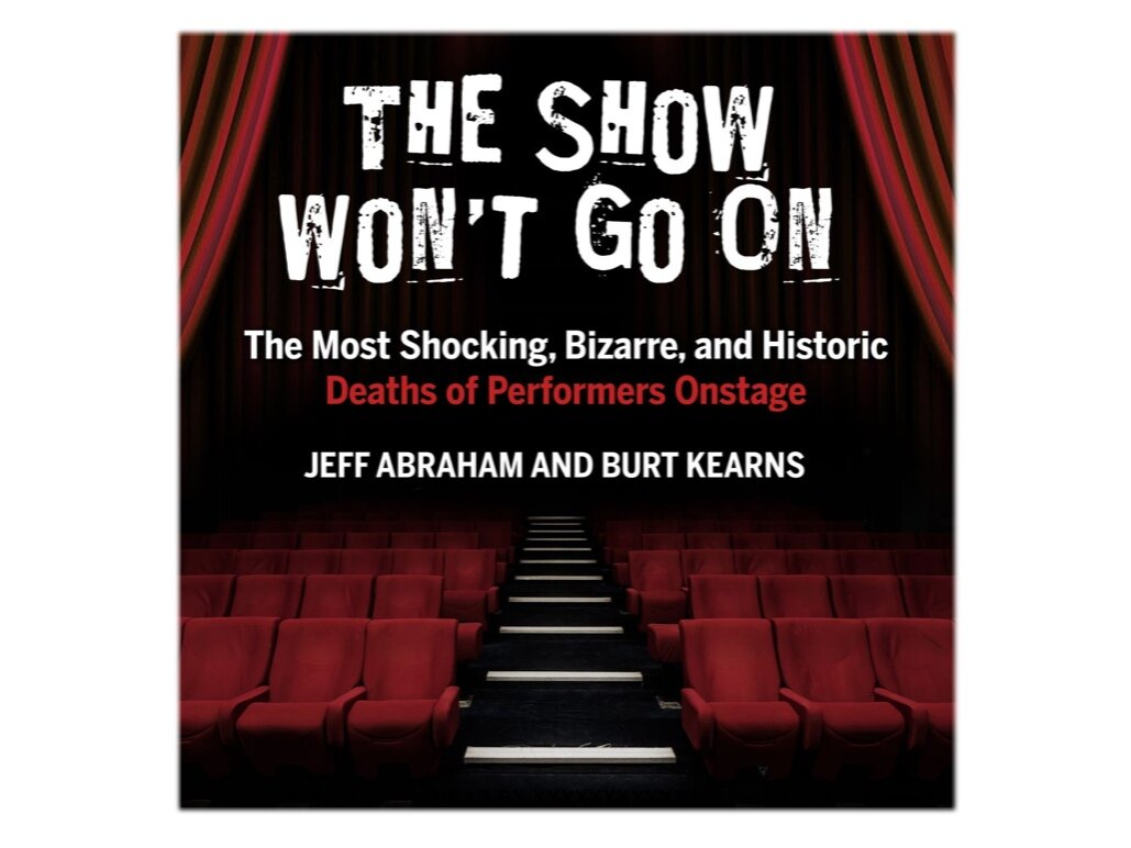 THE COVER OF THE AUDIOBOOK VERSION OF  THE SHOW WON'T GO ON . EIGHT AND 1/2 HOURS, NARRATED BY THE GREAT MICHAEL BUTLER MURRAY. CLICK THE COVER TO ORDER YOUR COPY TODAY!