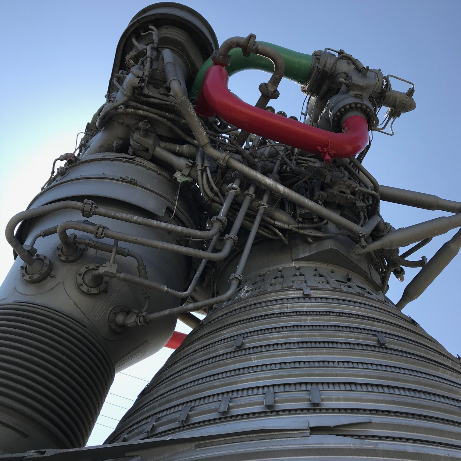 Upward view of the F-1 Rocket Engine