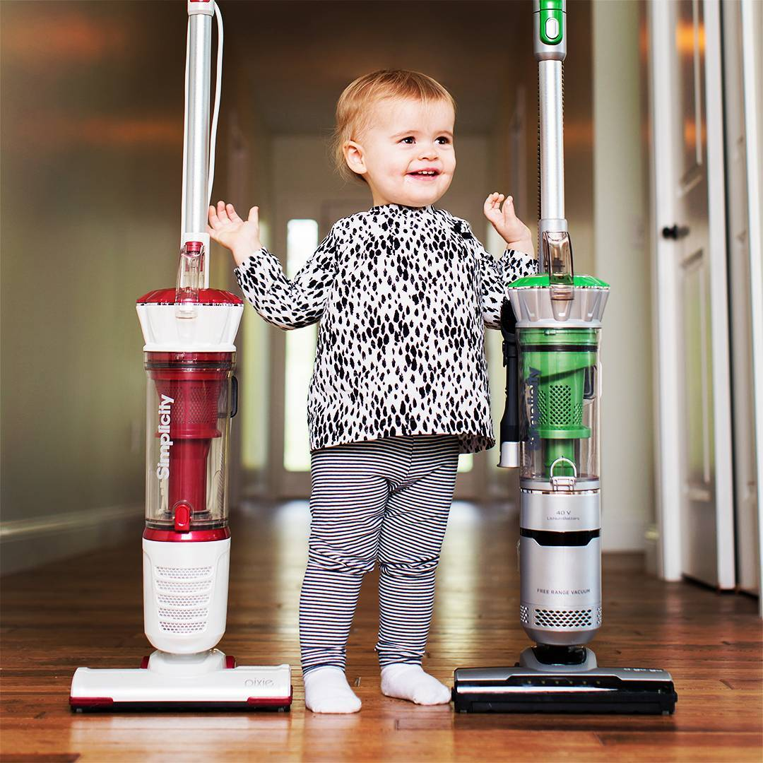 baby with vacuums