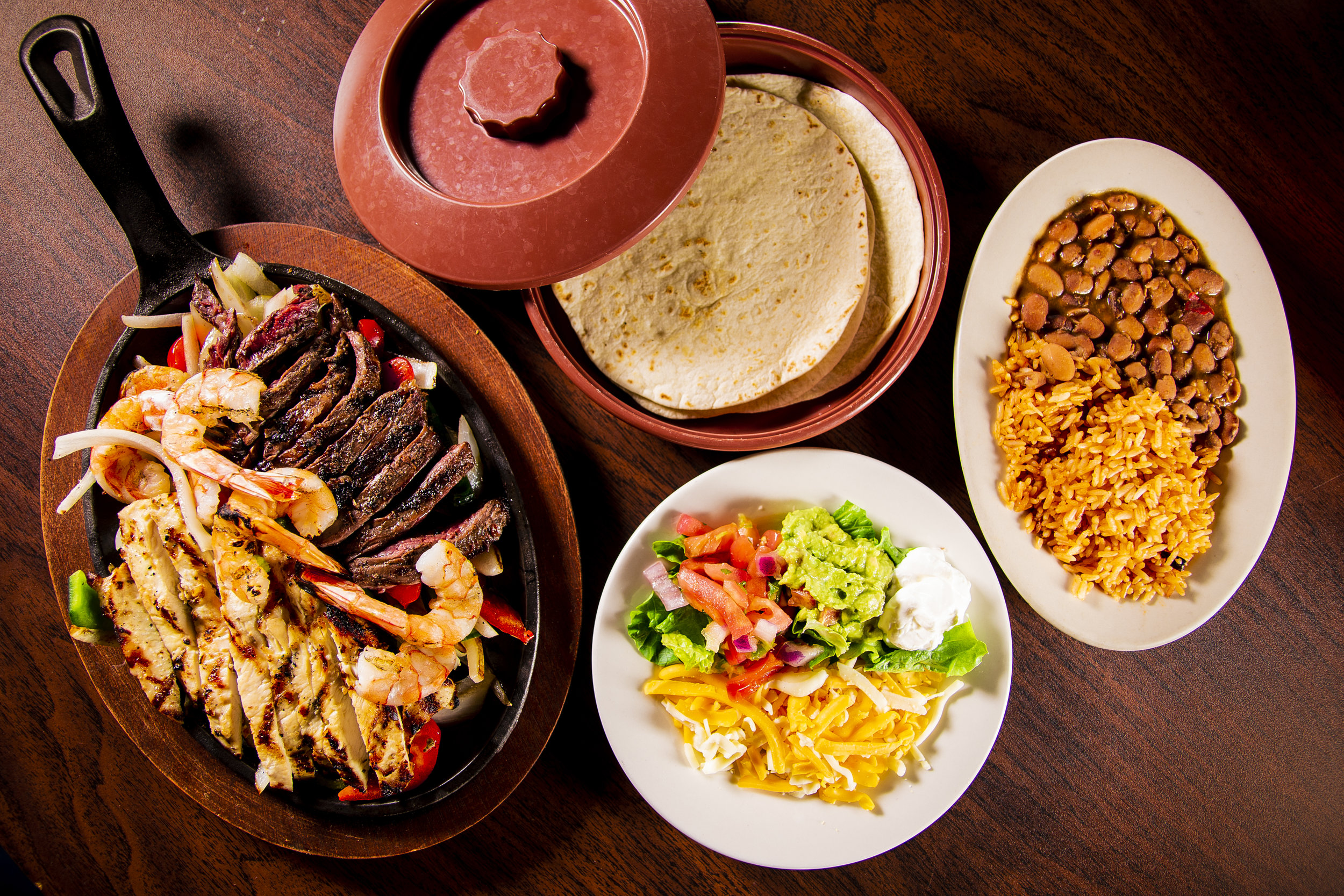 Fajita Night's - Join us Sundays and Tuesdays for our fajita night special! Any large combo of two for 13.95.