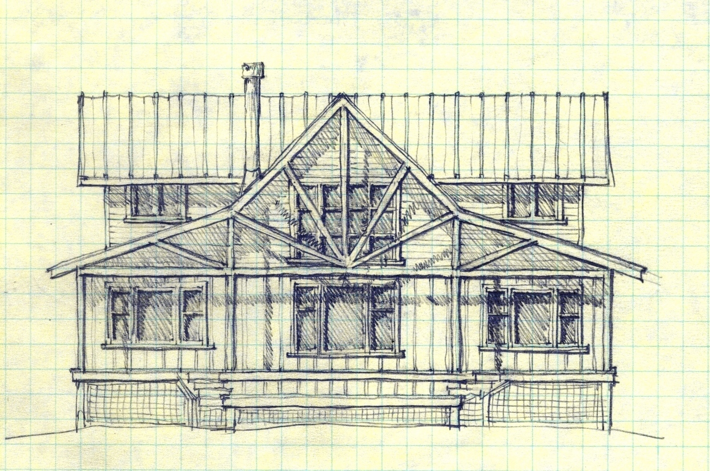 Study for a cabin at Georgetown Lake
