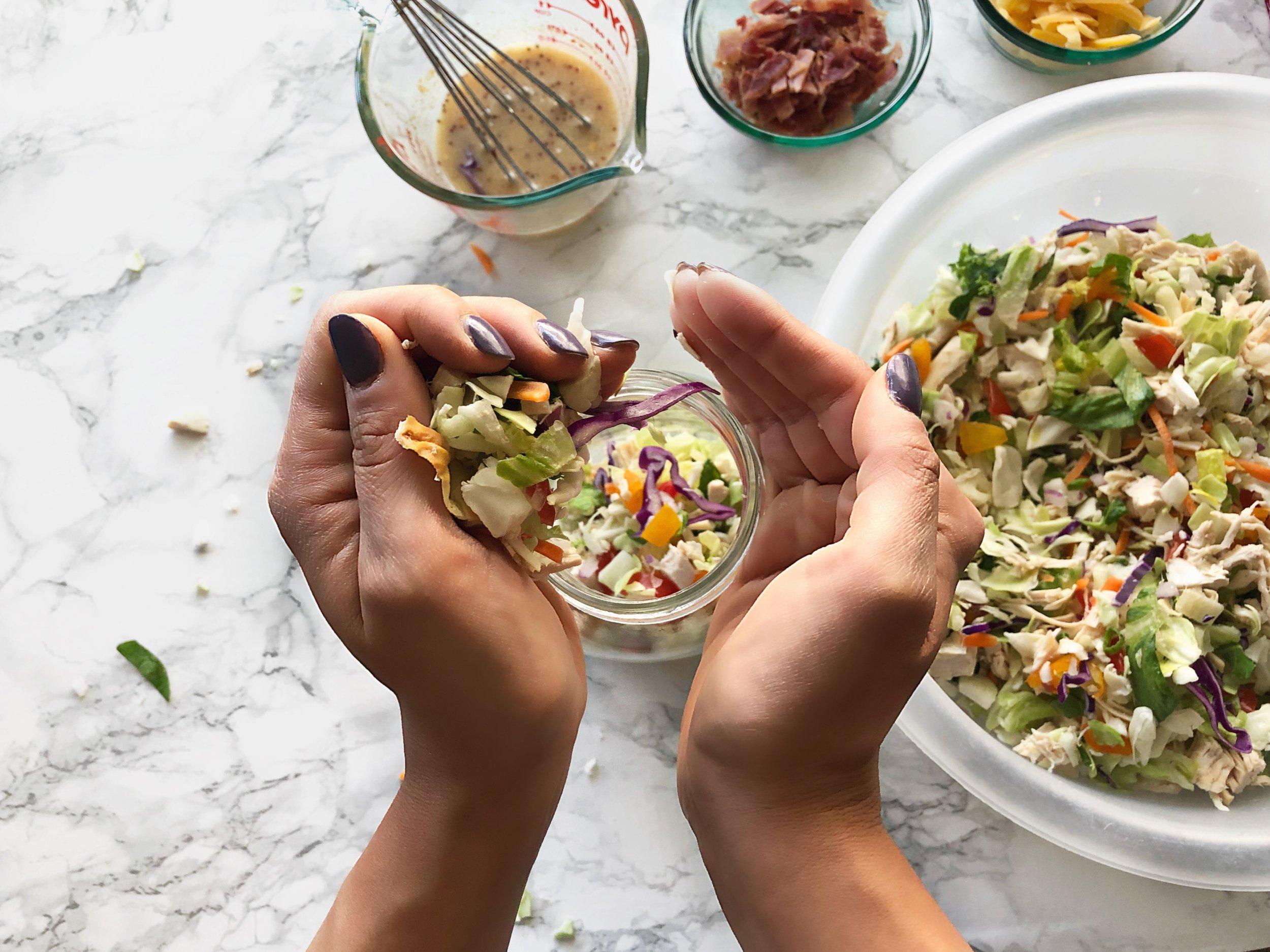 Chopped Salad Jar Meal Prep 4