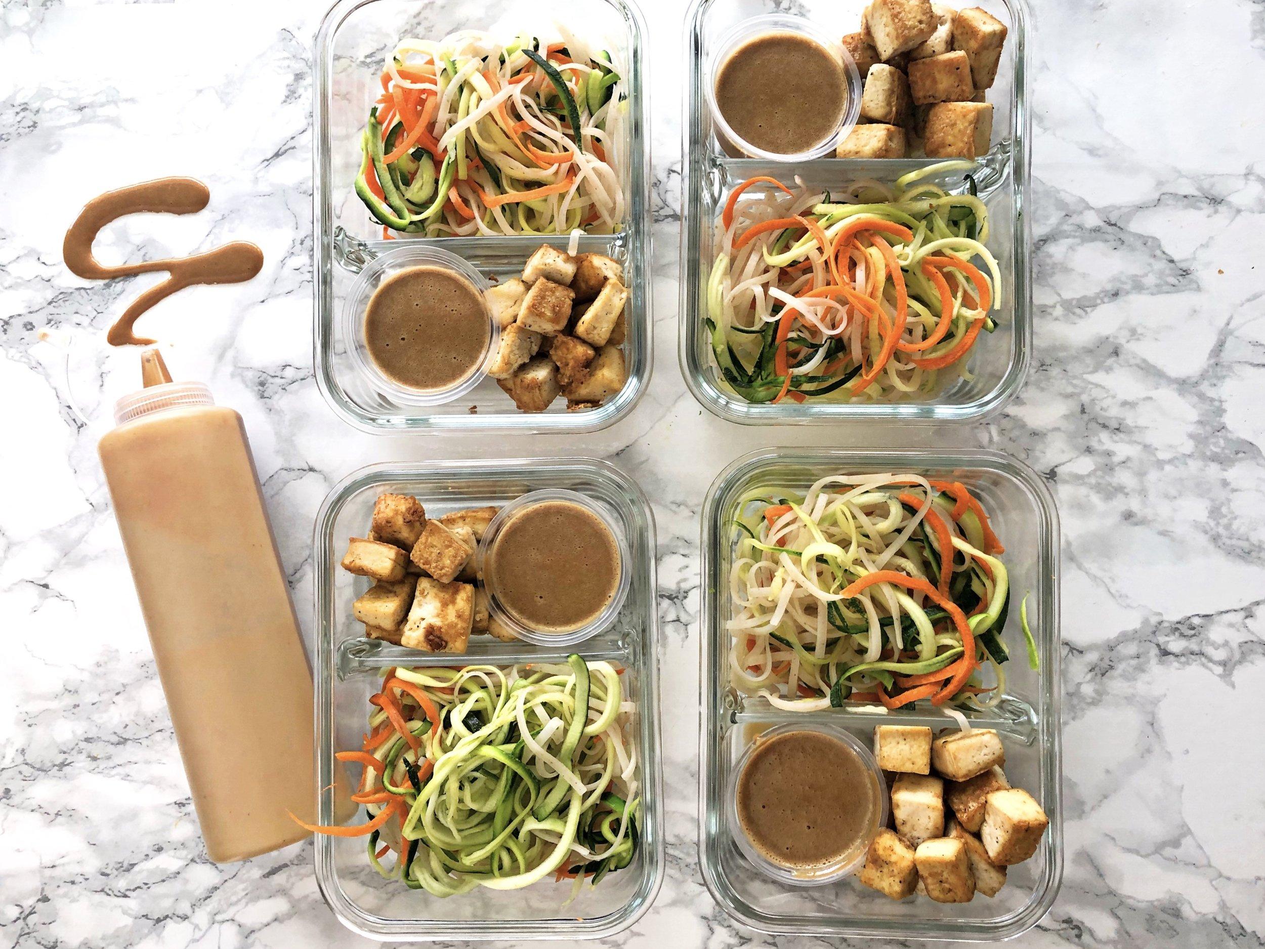 Vegan Meal Prep Recipe, Zoodles 3