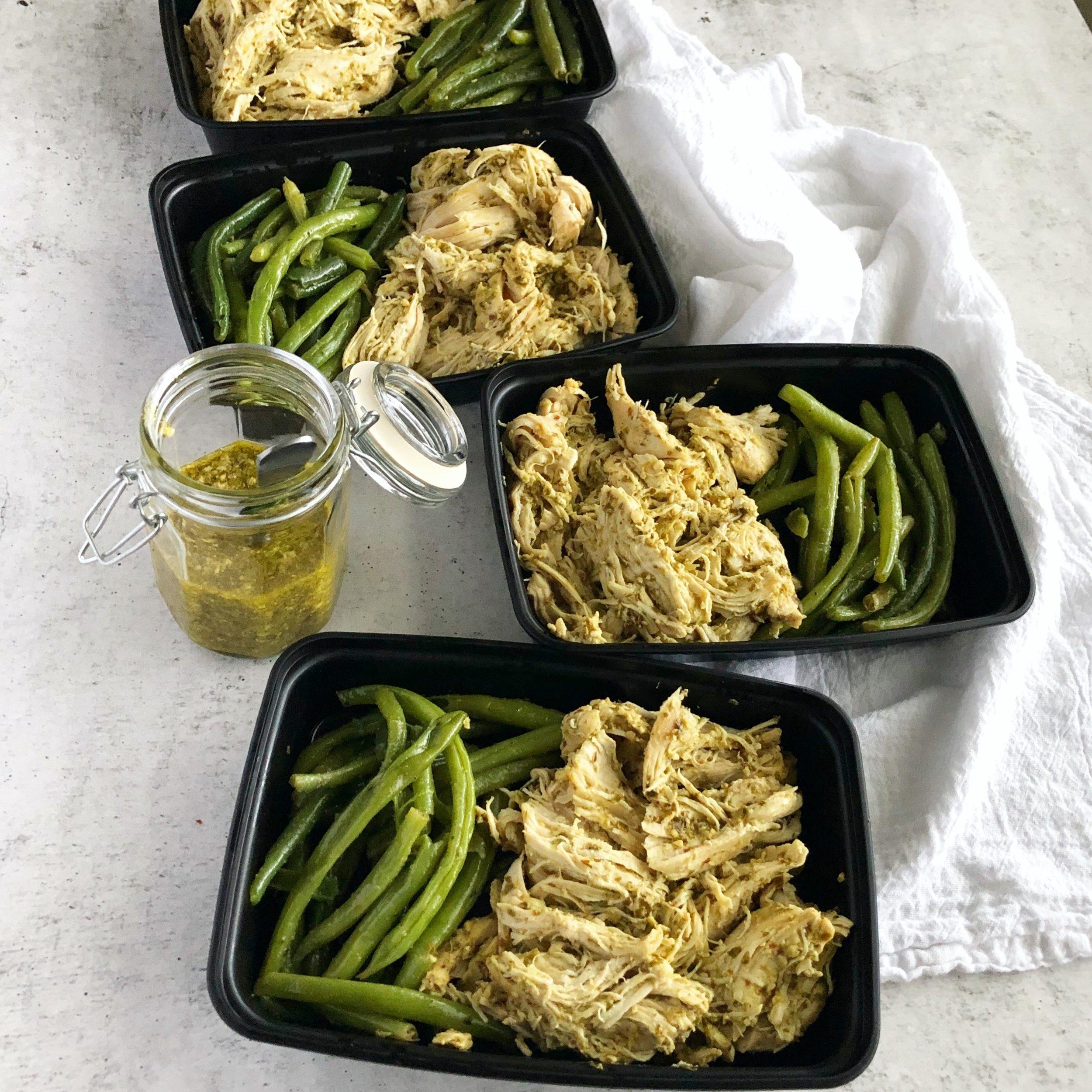 Instant Pot Pesto Chicken, Instant Pot Meal Prep 1