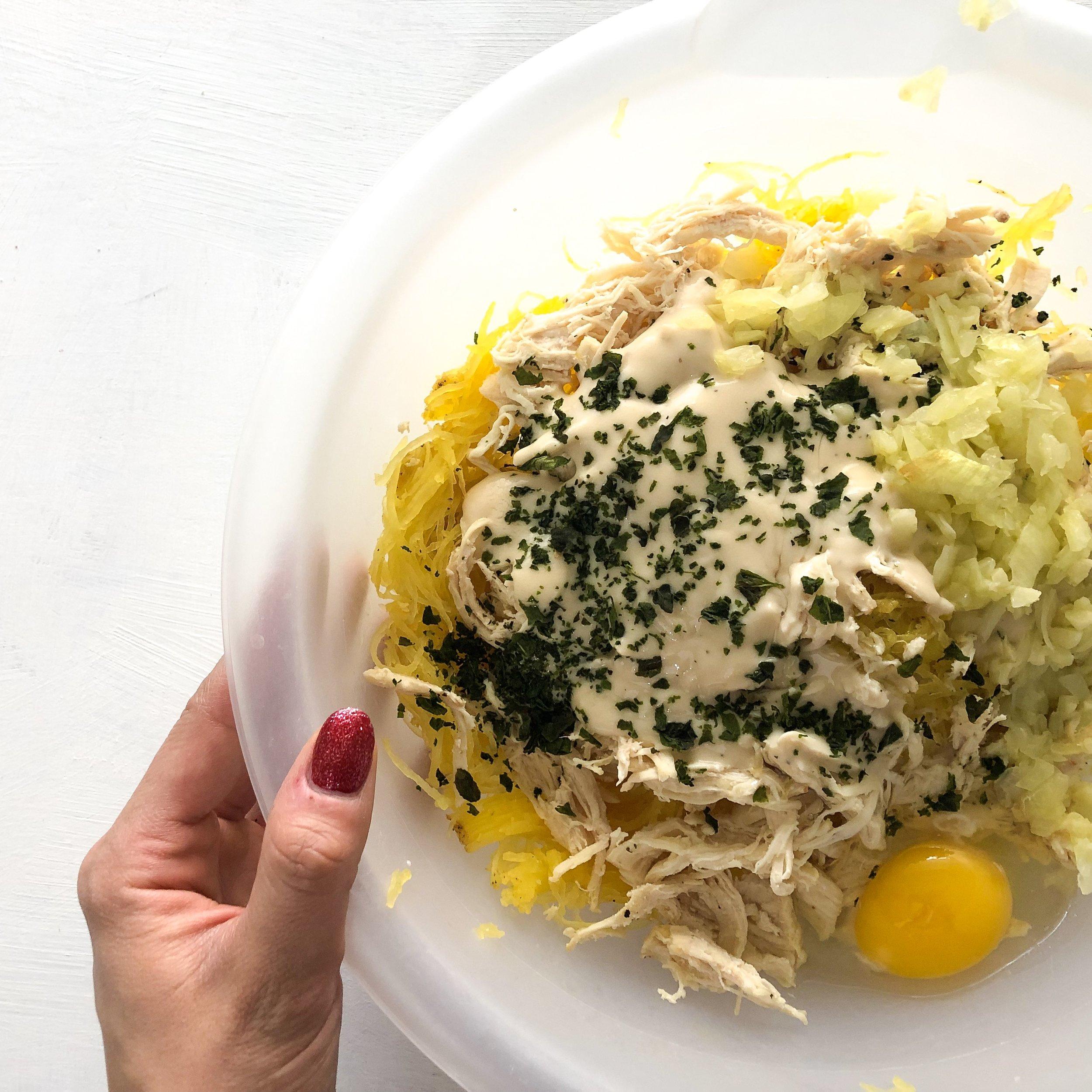 Healthy chicken alfredo squash bake 4