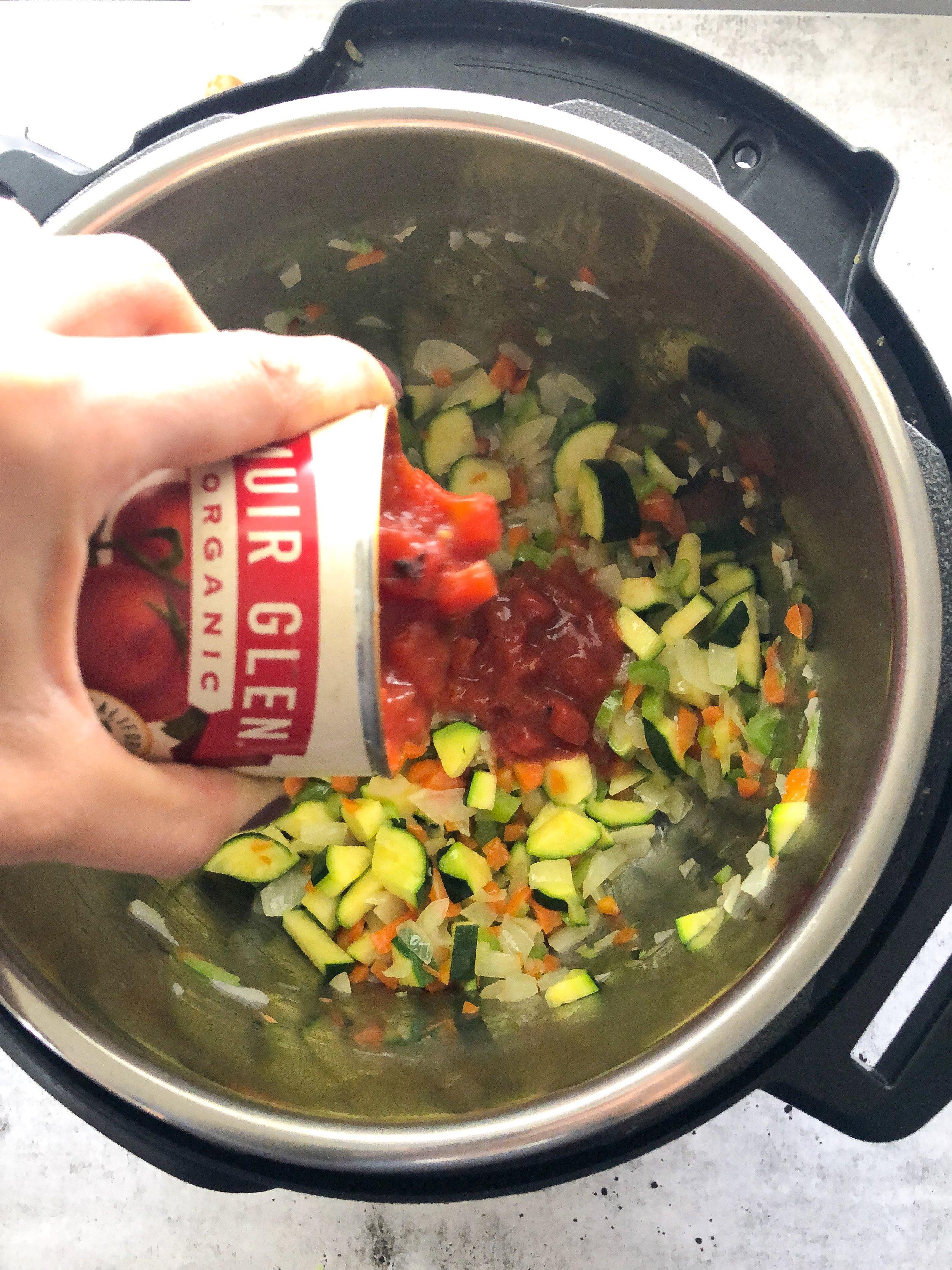 Veggie Tomato Soup Meal Prep, Instant Pot Meal Prep