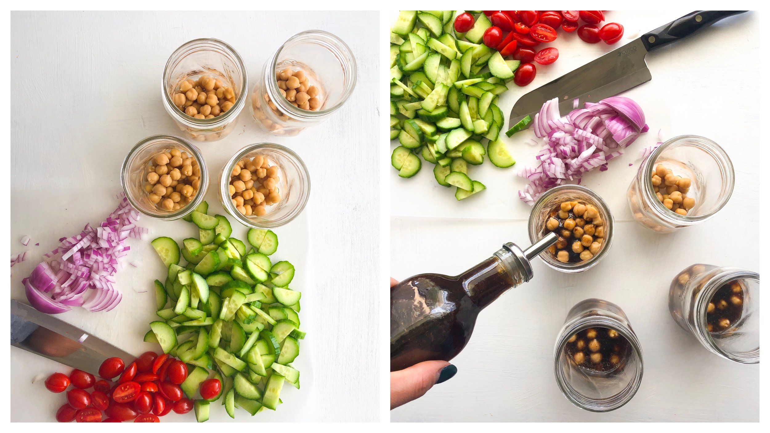 Vegan Mediterranean Salad Jars, Greek salad jar 2
