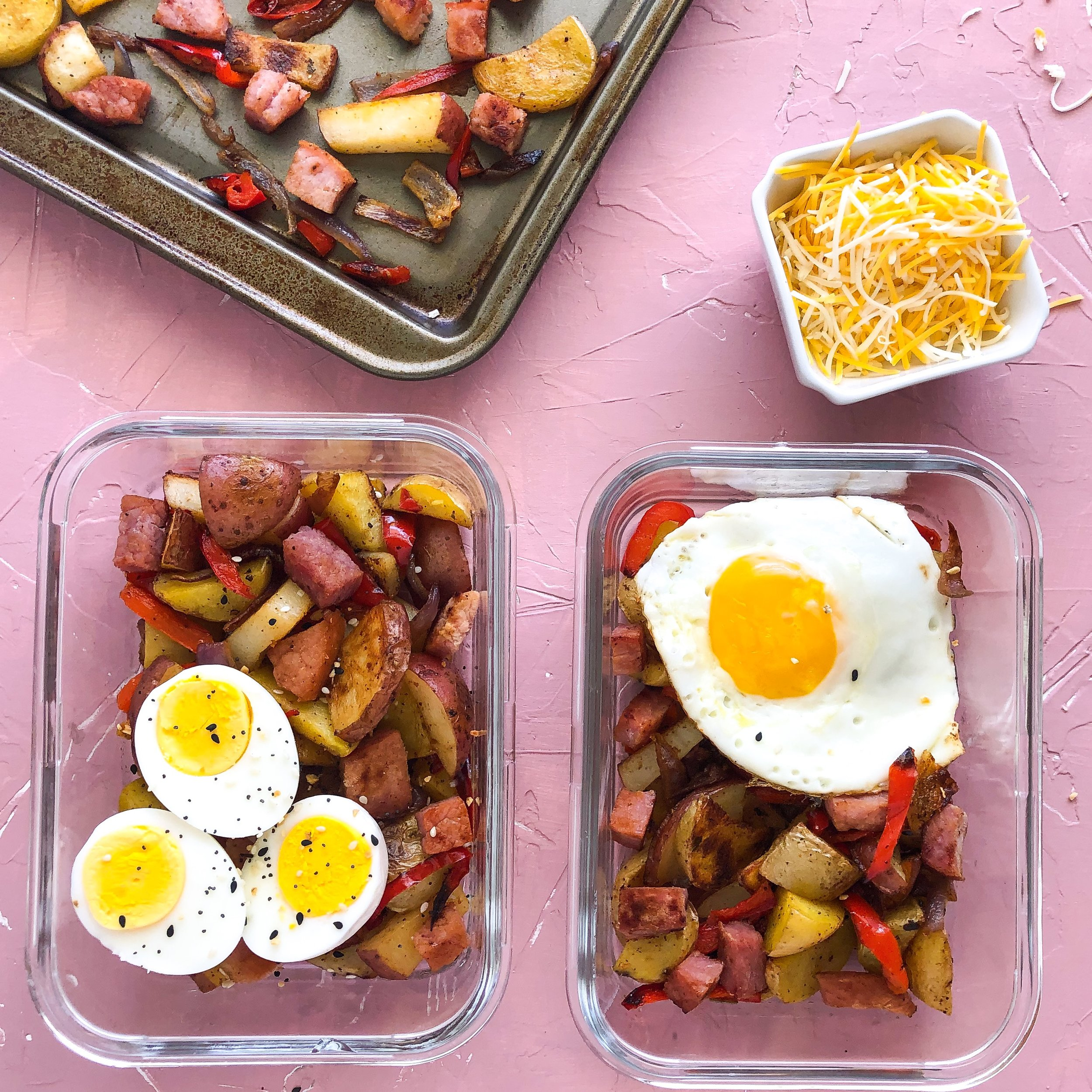 Denver style breakfast, sheetpan breakfast, meal prep 5