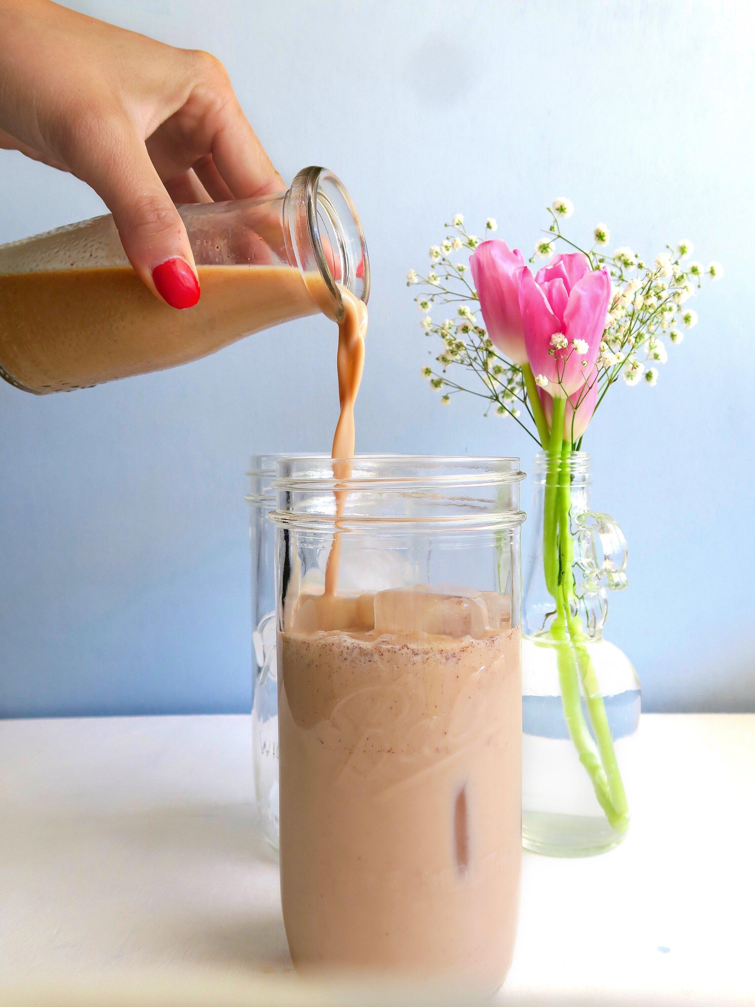 Protein latte, chai tea protein shake, mocha protein shake 1