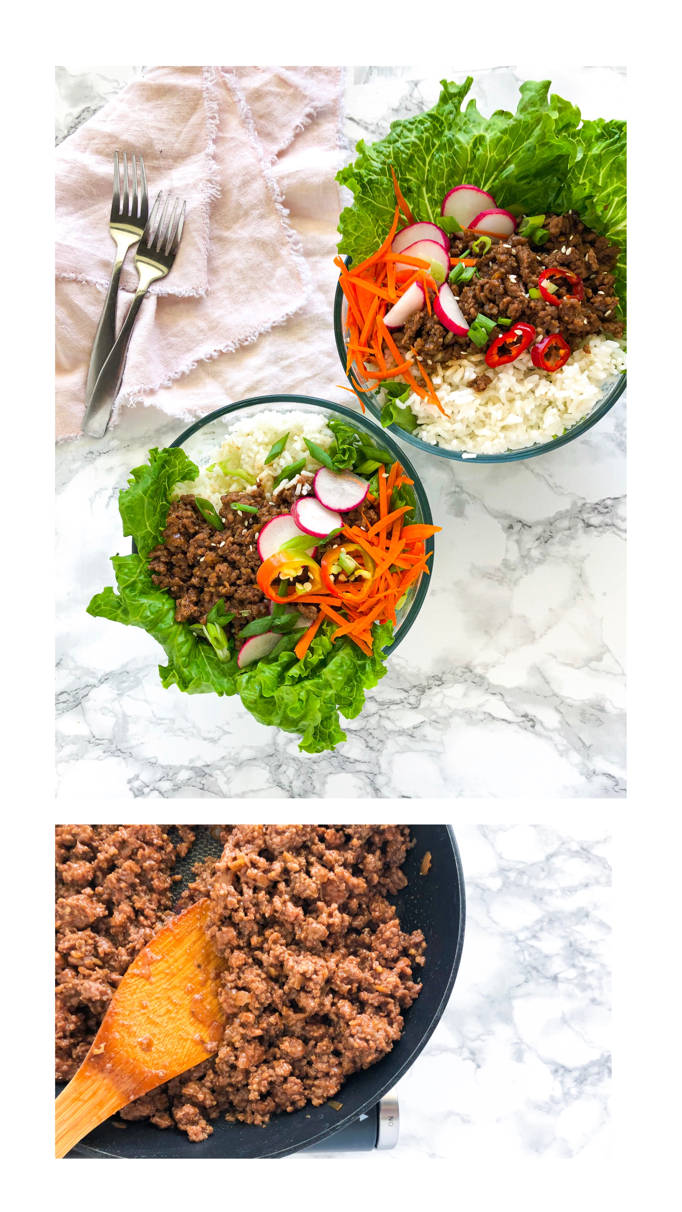 Freezer friendly Korean Beef, Ground Beef Meal Prep 1