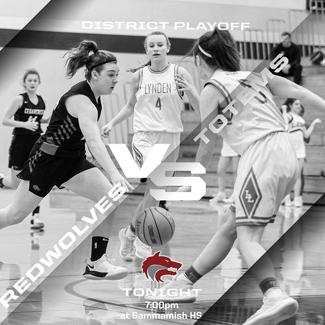 Friday Game Night!! Tonight at 7pm against the Sammamish Totems. Winner moves on, loser is out. Come to Sammamish HS and support the girls road to State. #GoRedWolves