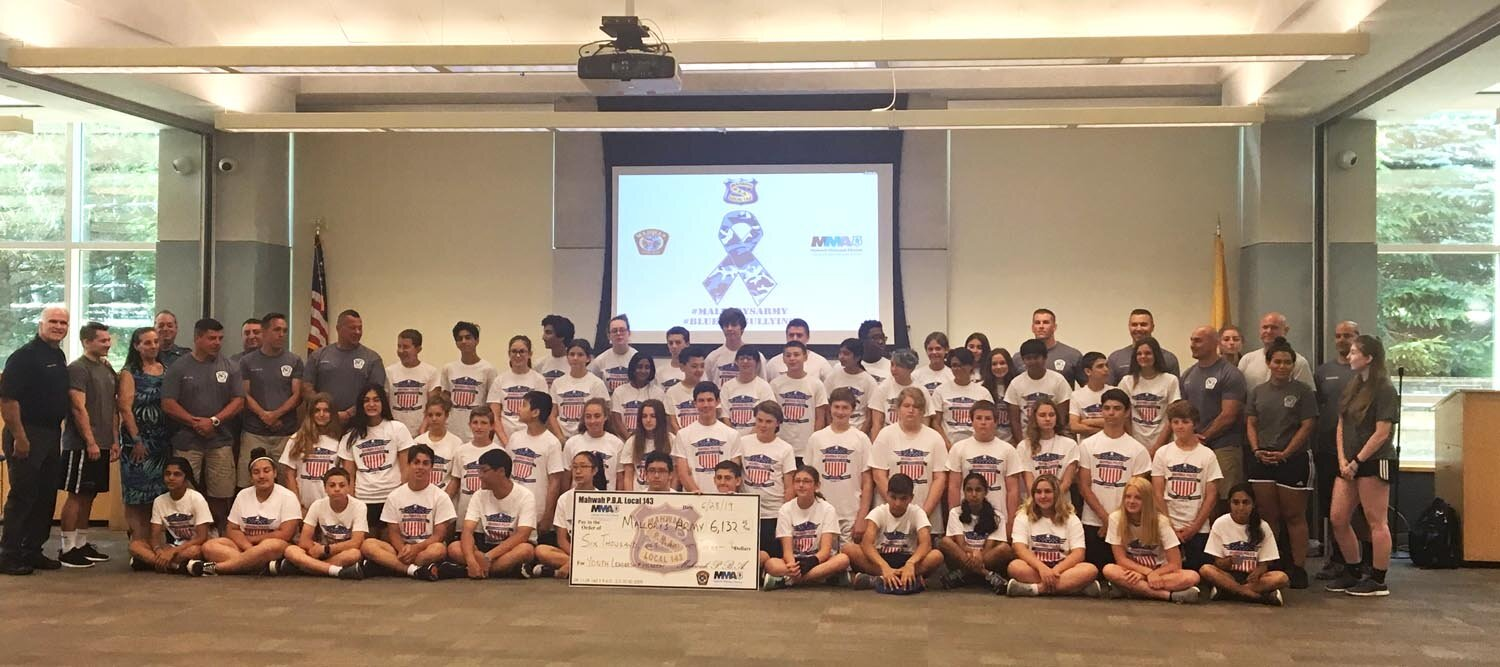 Leadership Academy 2019     - This year's leadership challenge involved Mallory's Army Foundation, in the fight against adolescent bullying, which caused this young lady to take her own life at 12 years old. The teams chose locations to raise money throughout the Township and was able to present a check to the foundation for $6132.00.