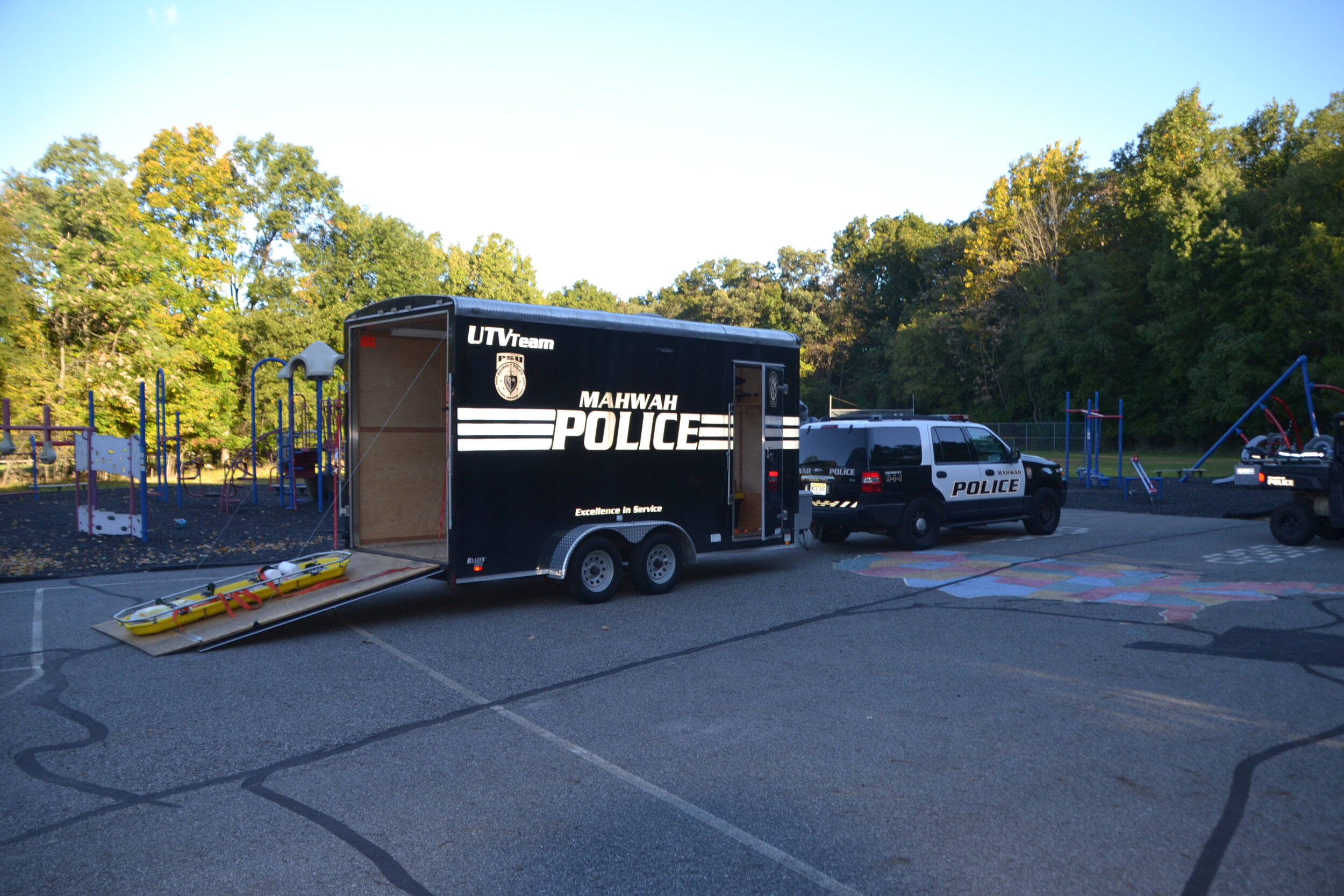 Mahwah PD UTVteam truck and trailer