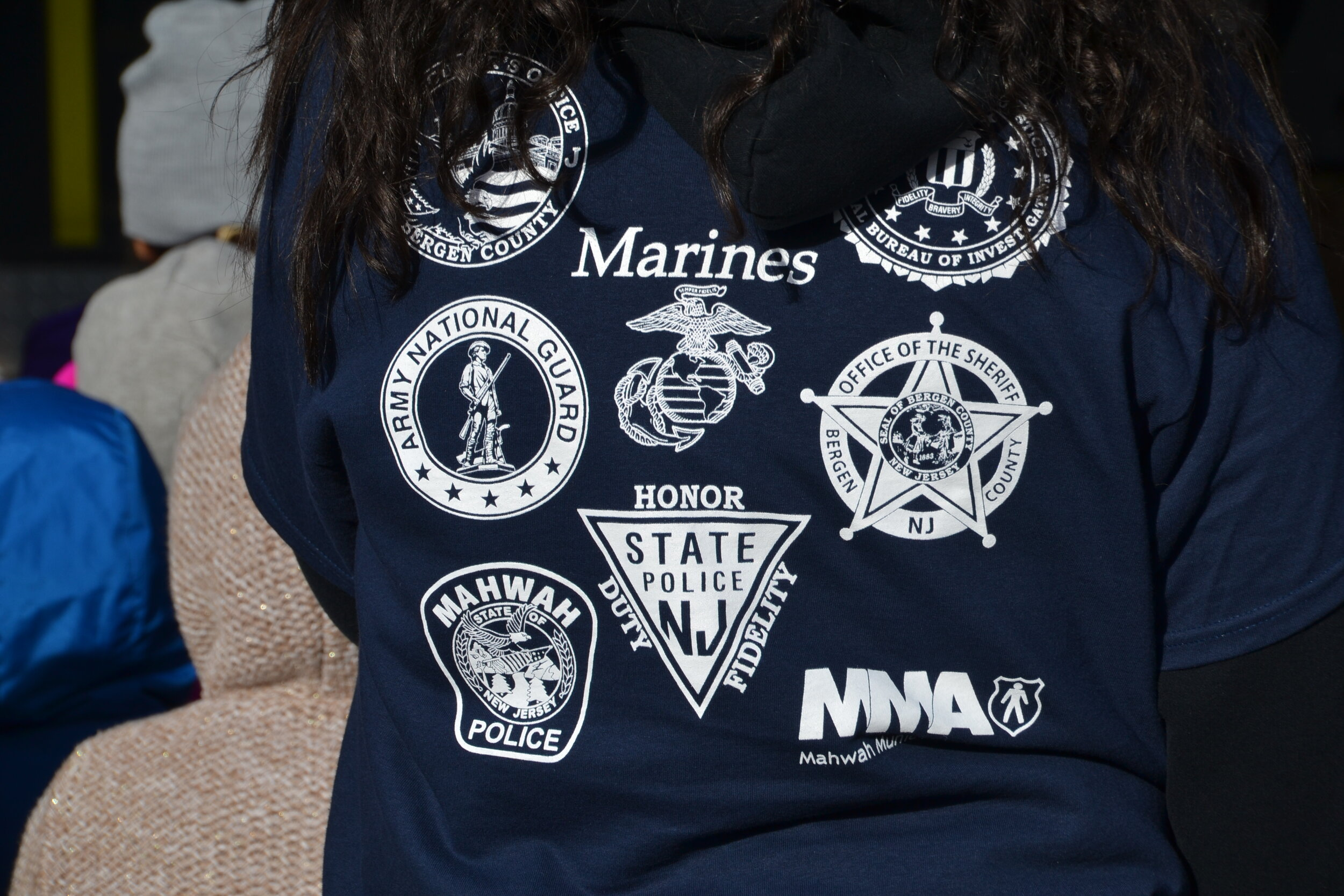 mahwah police t-shirt junior police academy armed services