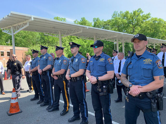 Mahwah Officers participating in the Law Enforcement Memorial Service