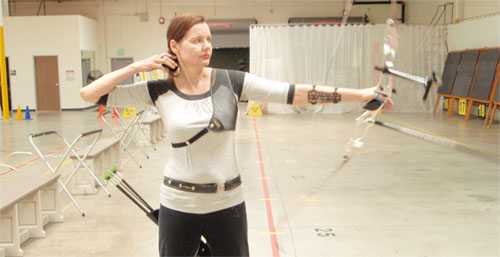 (In this picture, Geena Davis visits the Easton Van Nuys Archery Center)