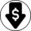 cost down icon