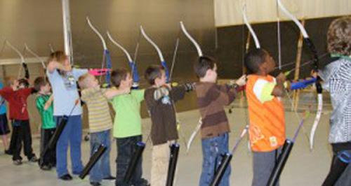 archery students in school