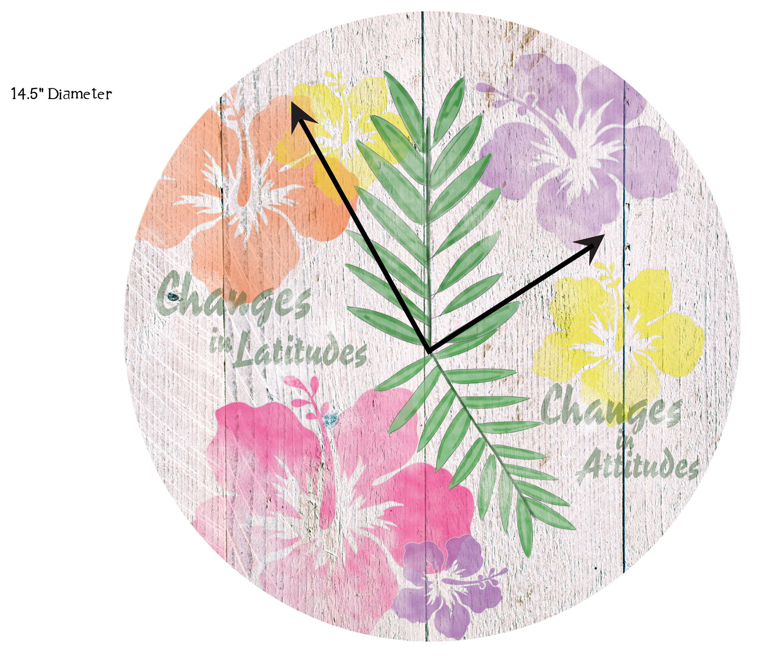 HIBISCUS CLOCK - FINAL DESIGN