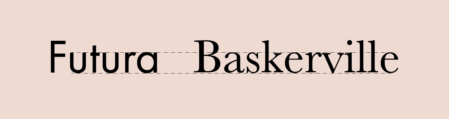 Futura and Baskerville have a similar x-height which makes them a good font combination.