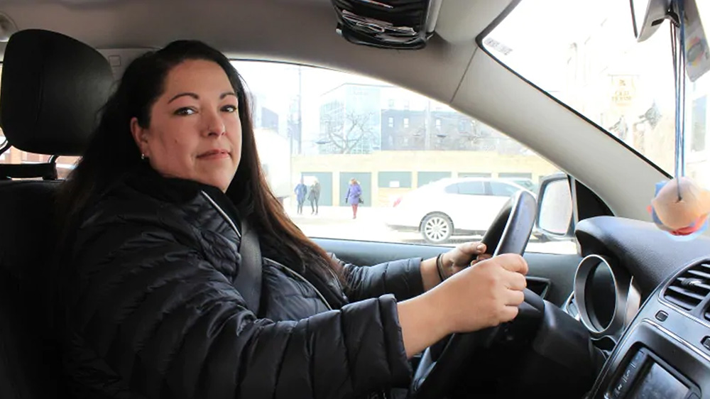 Christine Brouzes, co-director of Ikwe Safe Rides, said many passengers share stories about inappropriate sexual comments in taxis and some have had violent encounters. (Stephanie Cram/CBC)