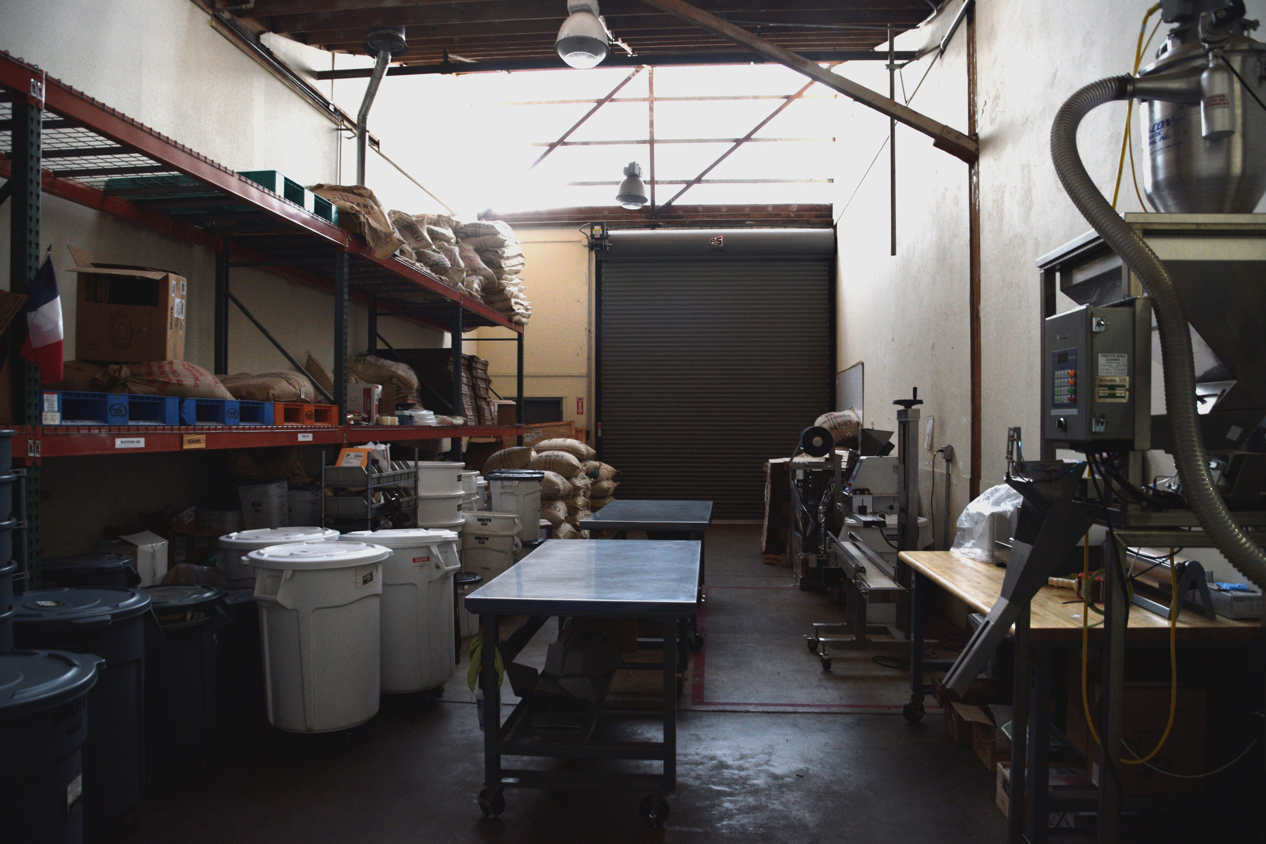 Additional 1,000 square foot packaging and coffee storage area.
