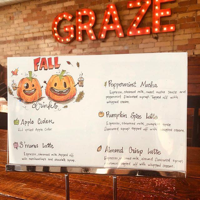 Pumpkin spice season is officially here! 🎃 #grazeatthegoat . . . #toronto #the6ix #papevillage #danforth #eastyork #playter #espresso #food #foodie #torontolife #cafe #coffee #vegan #oatmilklatte #fall #pumpkinspice #goatcoffeeco