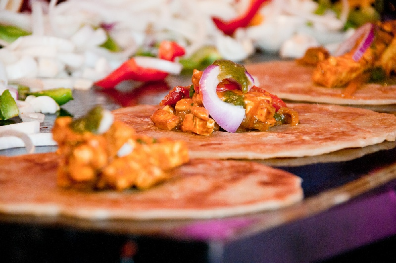 Live Kathi Roll Station by Moghul Catering