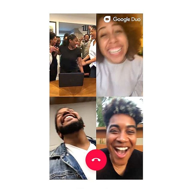 New placement for our artist @freedomimani in the new Google Duo commercial.  Perfect fit 👌🏼
