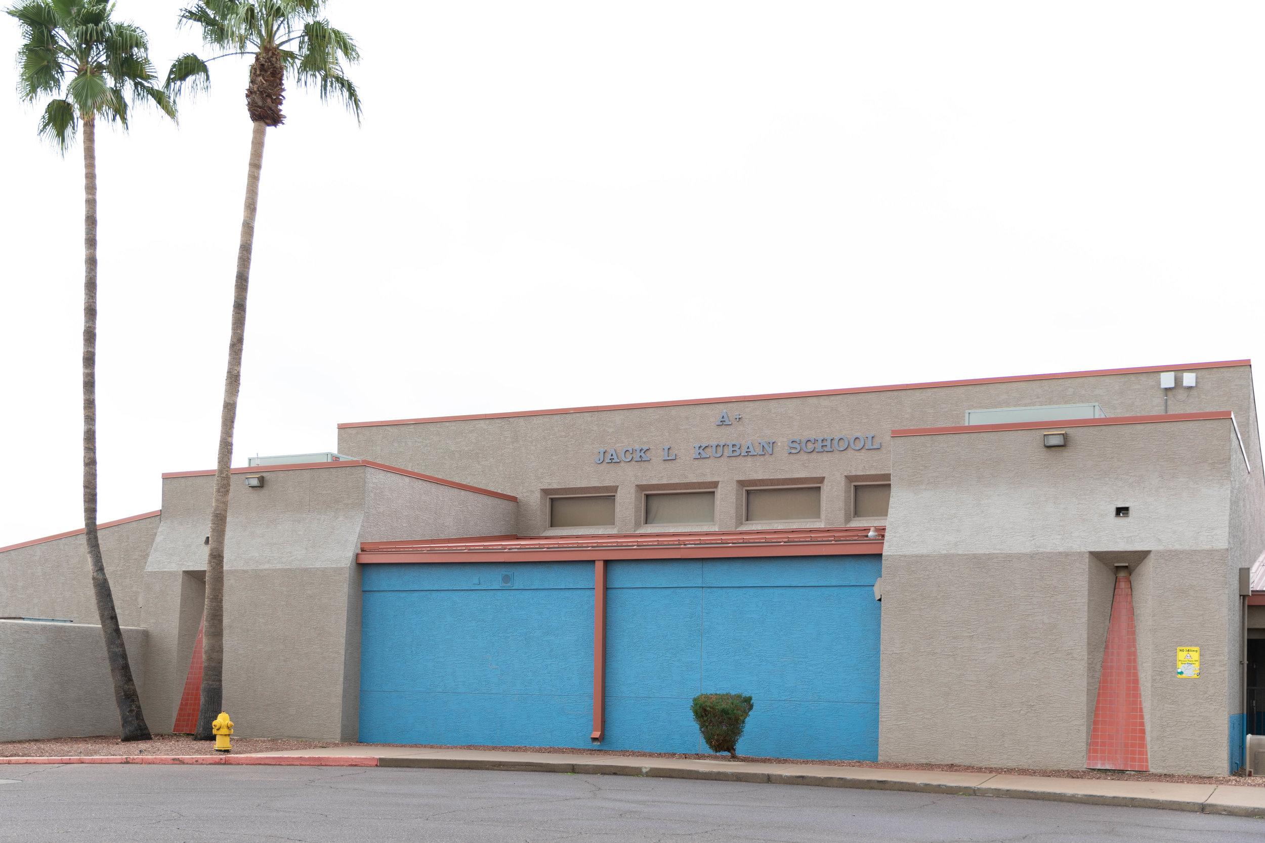 The front of Kuban Elementary School