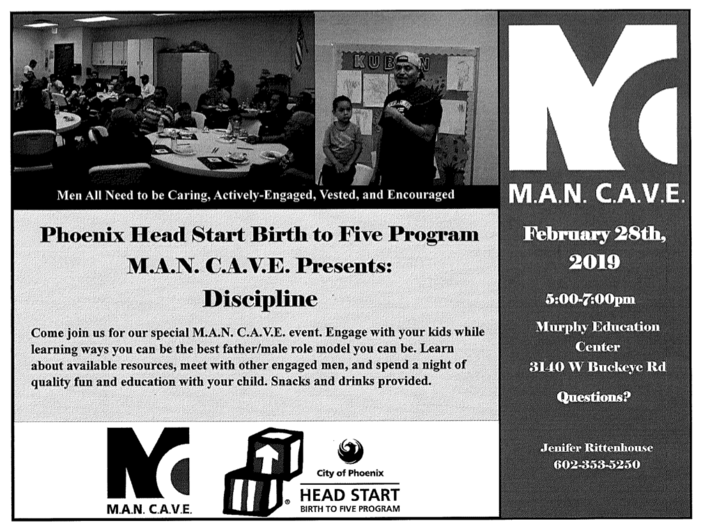 MAN CAVE Flyer English