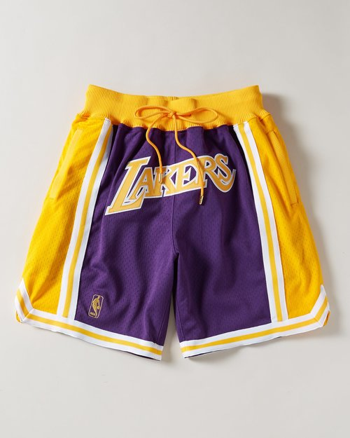on sale 55ada f72da Los Angeles Lakers Purple Throwback Shorts — Jersey Cave