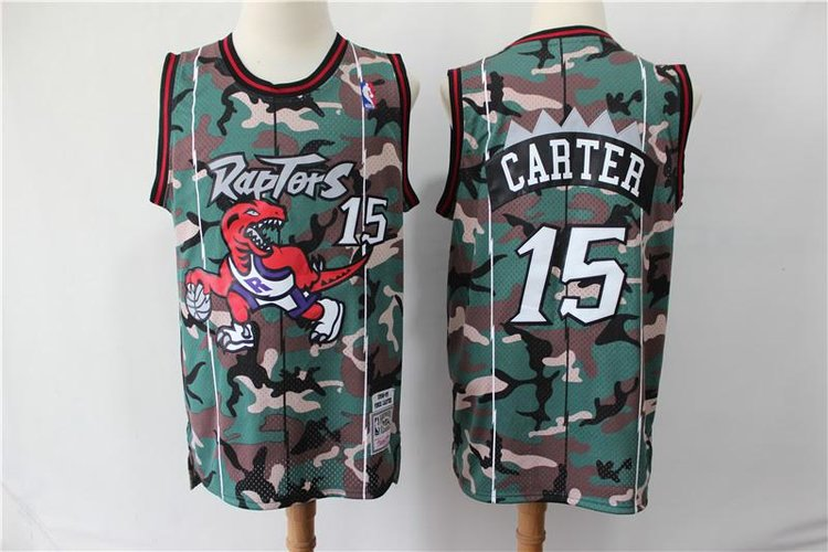 info for 78a67 7d18f Vince Carter Camo Throwback Toronto Raptors Jersey — Jersey Cave