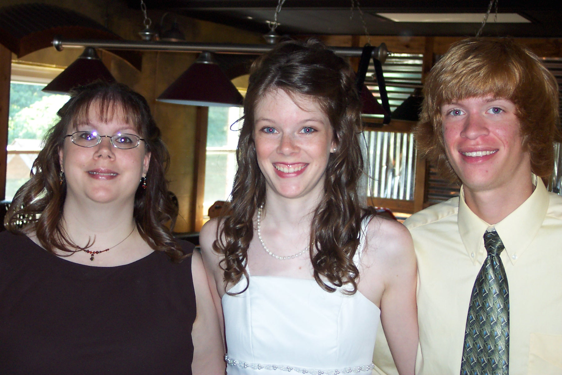 My favorite picture of me and my siblings! Taken right before the service began.