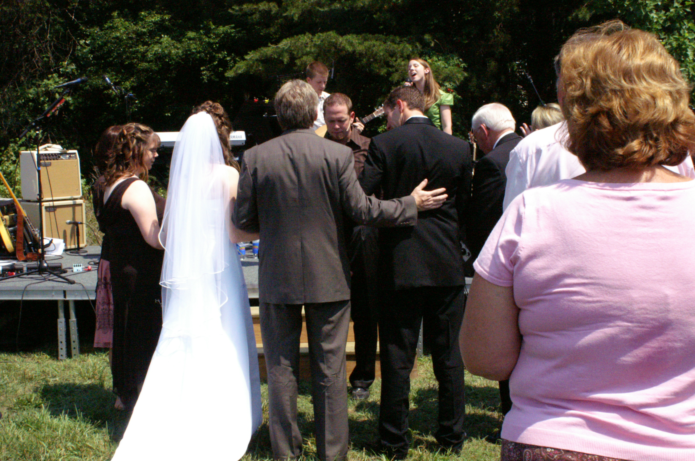 Our families prayed for us as we started off the ceremony.