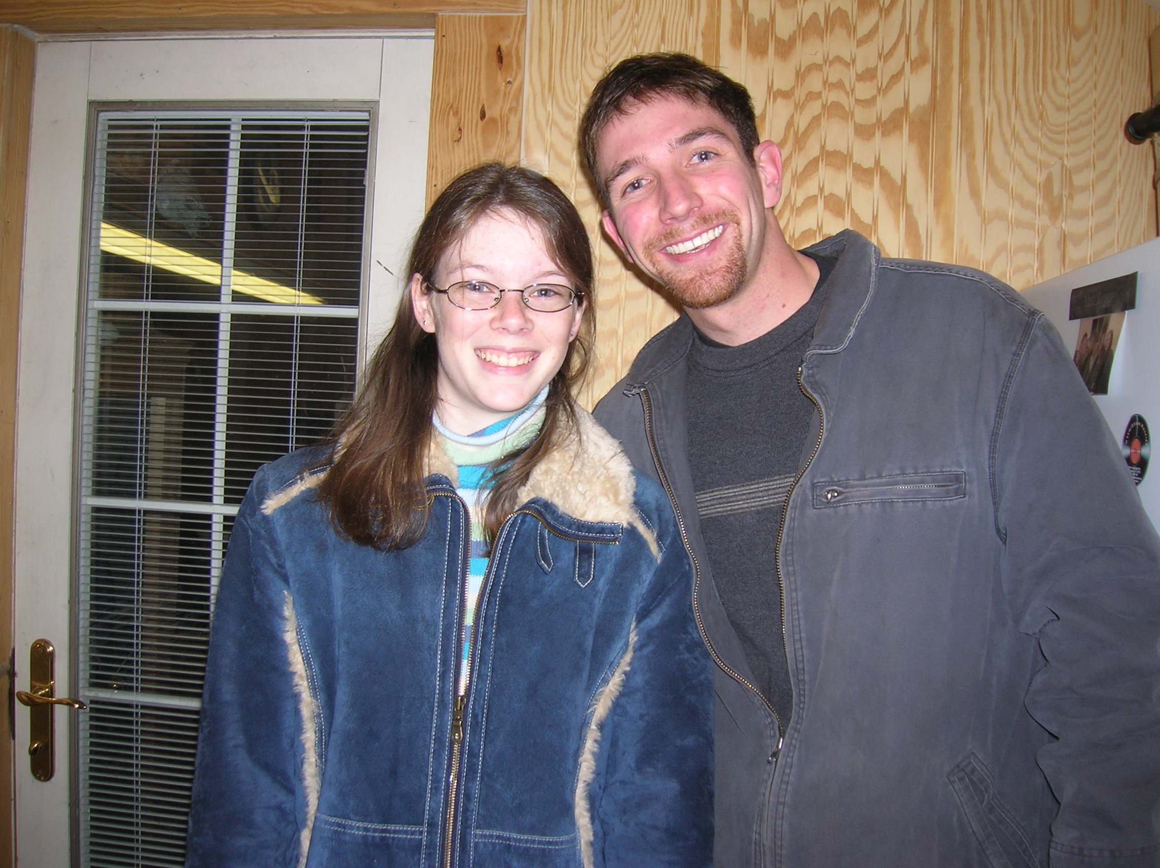 "The earliest picture I could find of the two of us together. This was taken at a Christmas party a couple months after our initial ""talk""."