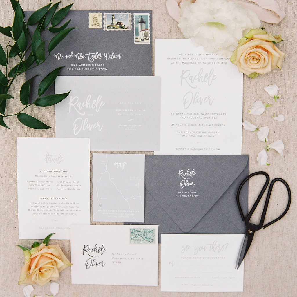 Dusty Blue Invitation Suite