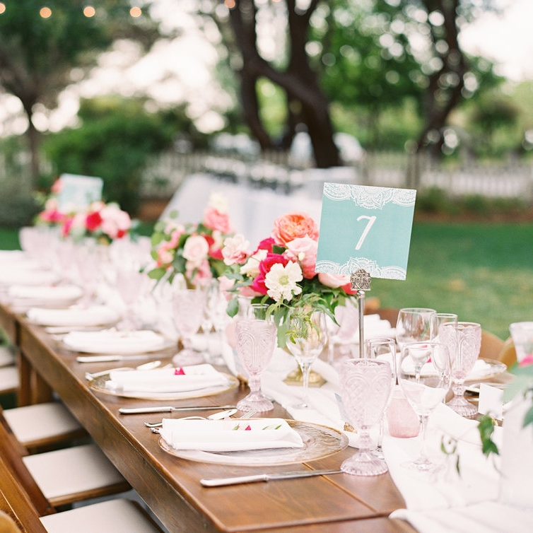 Modern Indian Wedding Table Numbers
