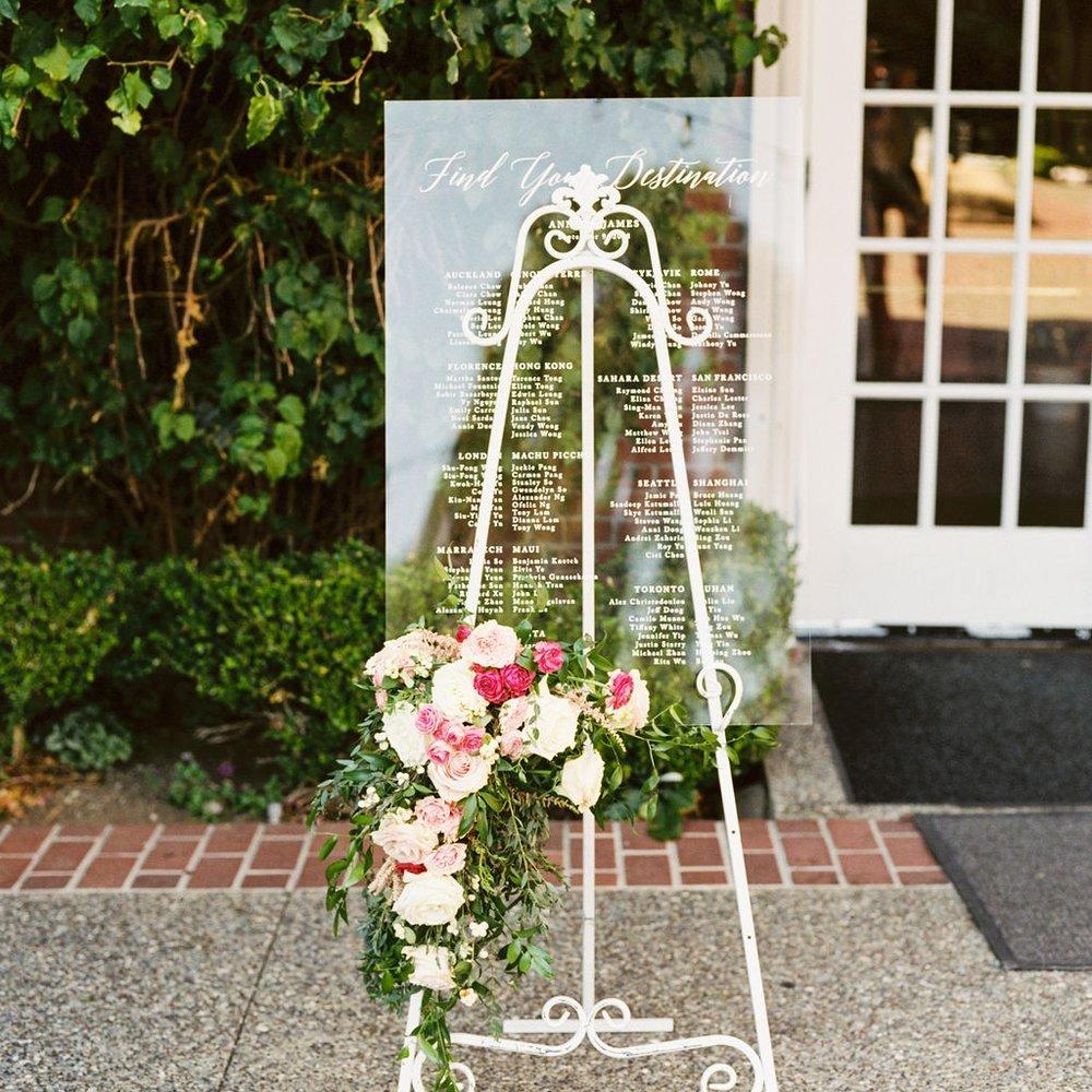 Acrylic Wedding Seating Sign