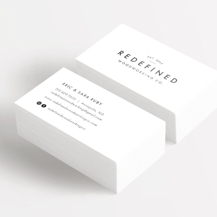 Redefined Woodworking Co. Business Cards