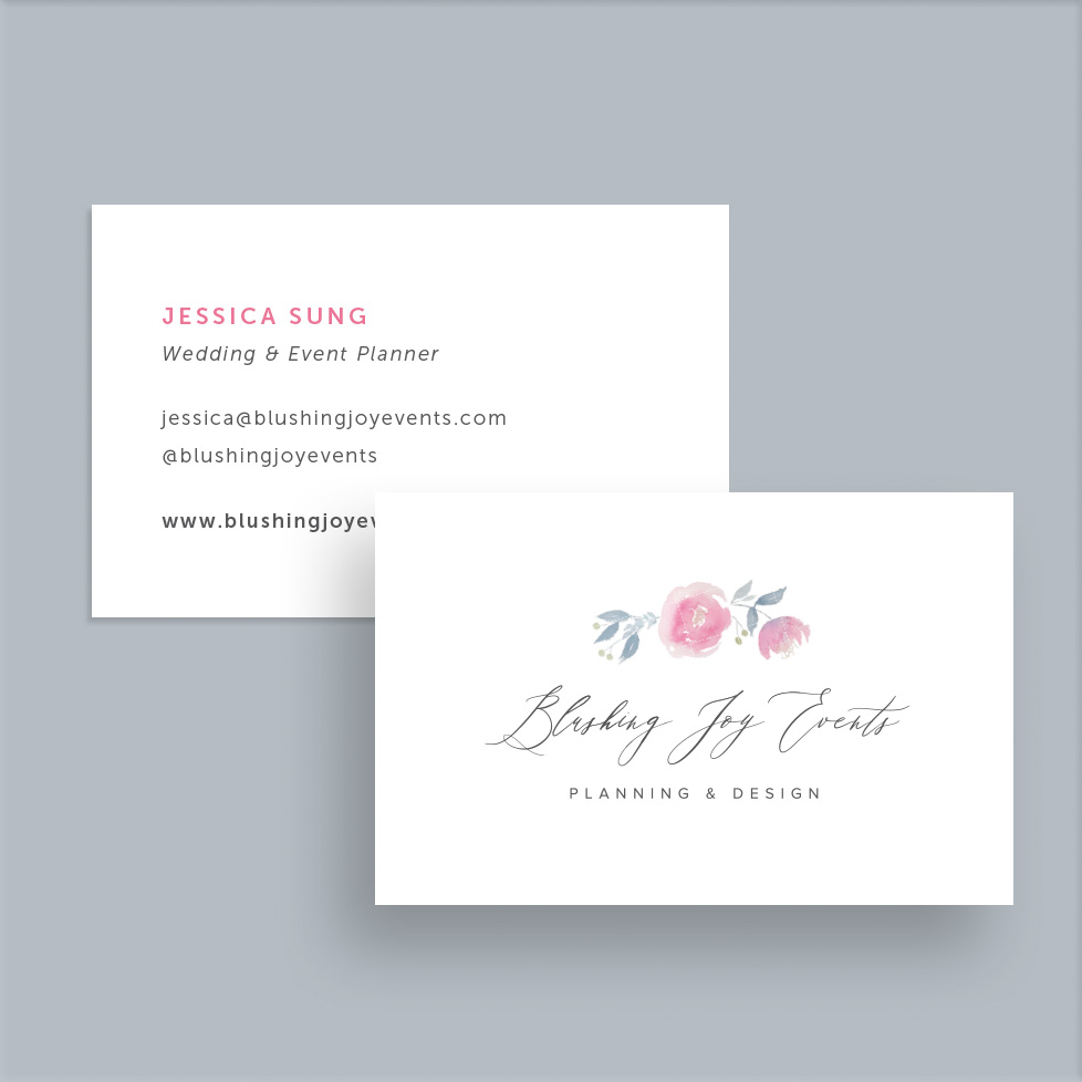 Blushing Joy Events Business Cards
