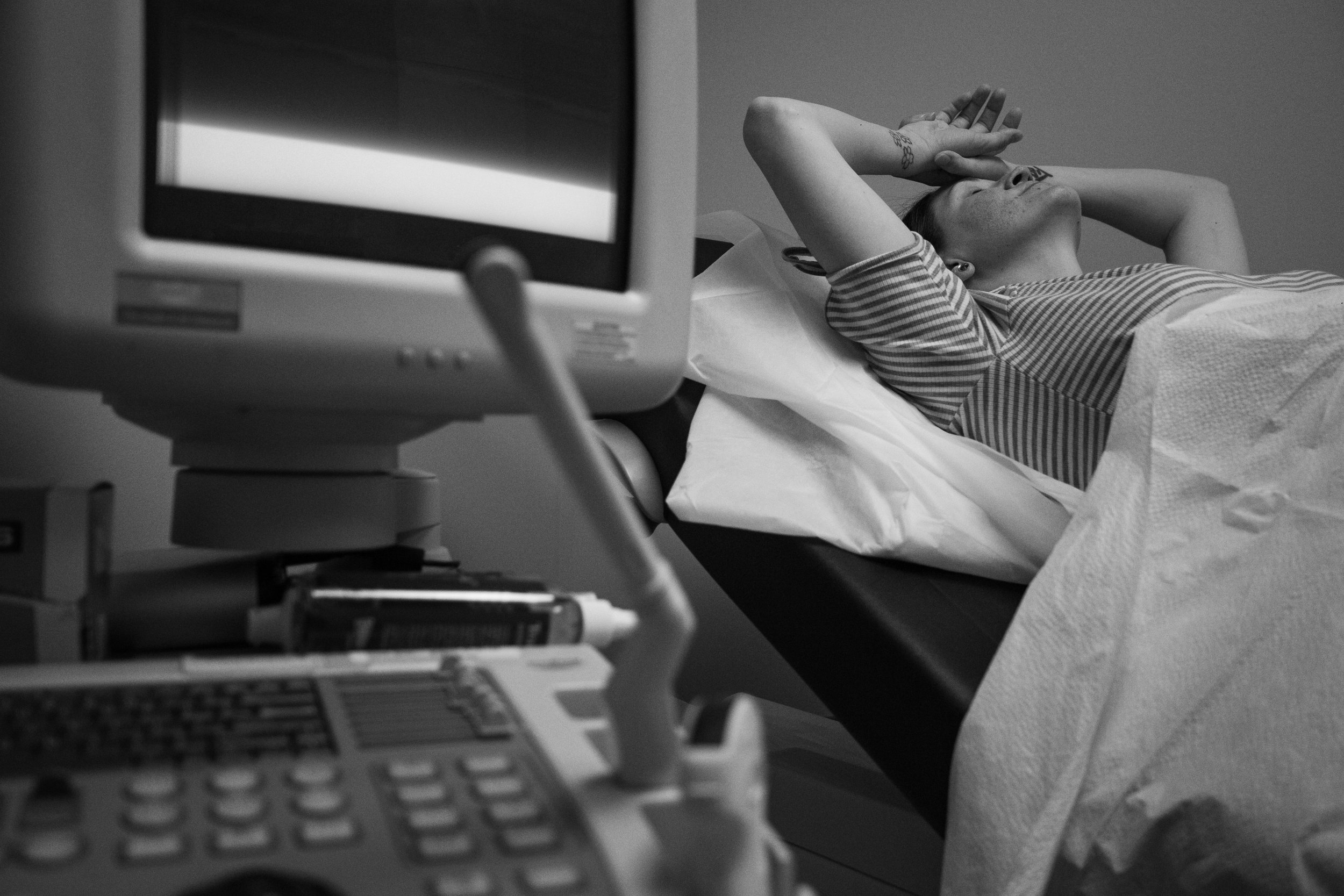 MARCH 28, 2019 | COURTNEY WAITS FOR HER DOCTOR TO EXAM HER 41 WEEK OLD BABY.