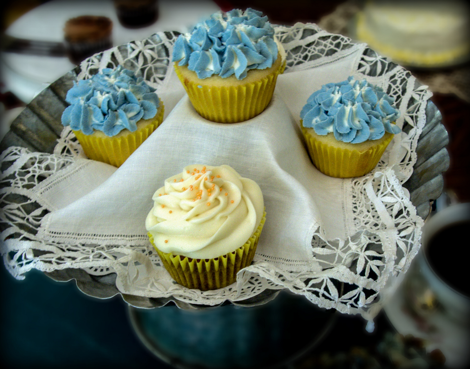 blue and yellow cakes.jpg