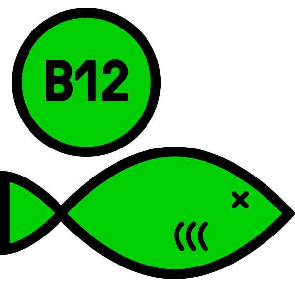 More  B12  than Salmon.
