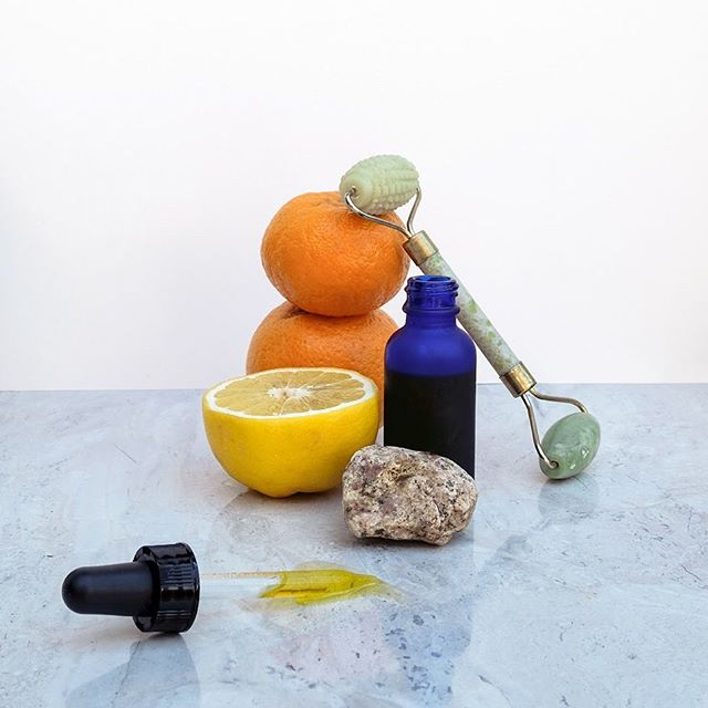 Super Natural Skincare workshop promo photo styled by + for @hello.franallen 🍊