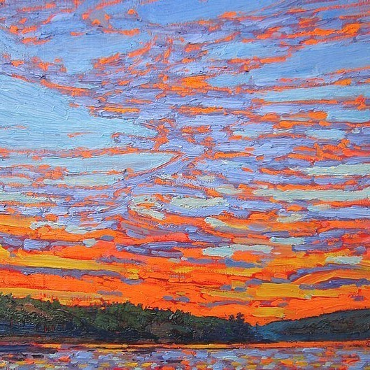 Tom Thomson, Sunset Clouds 1915   One of the inspirations for the summer mural @cambiedesign