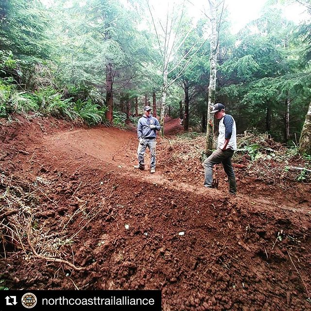 "The new Klootchy Creek system is looking dialed! Chance to work and ride this Sunday. - #Repost @northcoasttrailalliance with @get_repost ・・・ Morgan and Nate are our berm masters!  They're working on a new trail....""Mo Flow"" is opening soon and is looking so good.  Come build where you know you're going to want to ride this Sunday at Klootchy Creek 9am till 1pm.  #mtb #trailbuilding #getoutside #mountainbiking #pnwmtb #cannonbeach #seasideoregon - #orsingletrack #mtb #bike #oregon #pnw #publicland #trail #singletrack #mountainbike #forest #mountains #advocacy #trailsmatter #recreation"