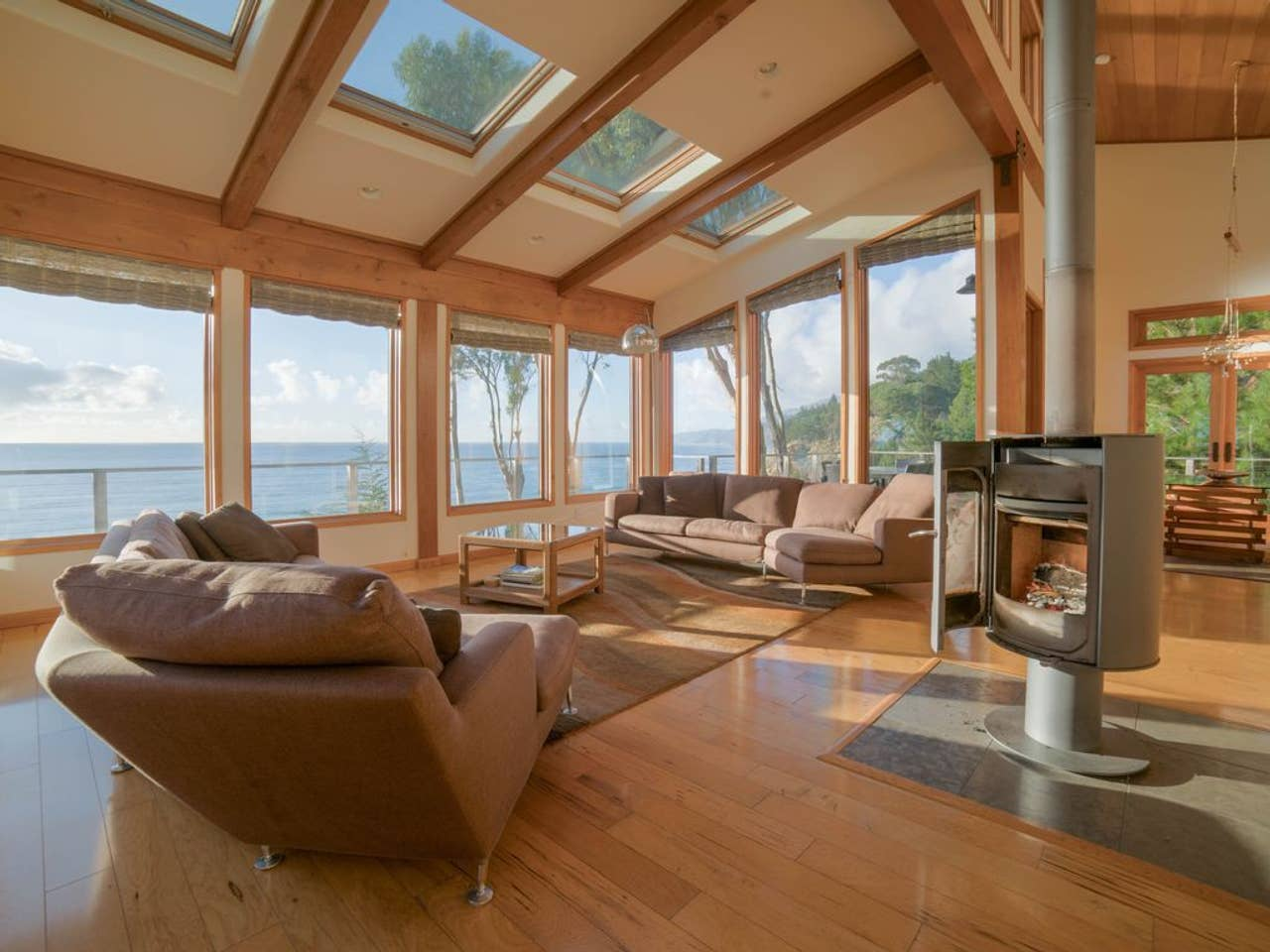 Ocean views from nearly every room! Imagine lounging in this airy common space.