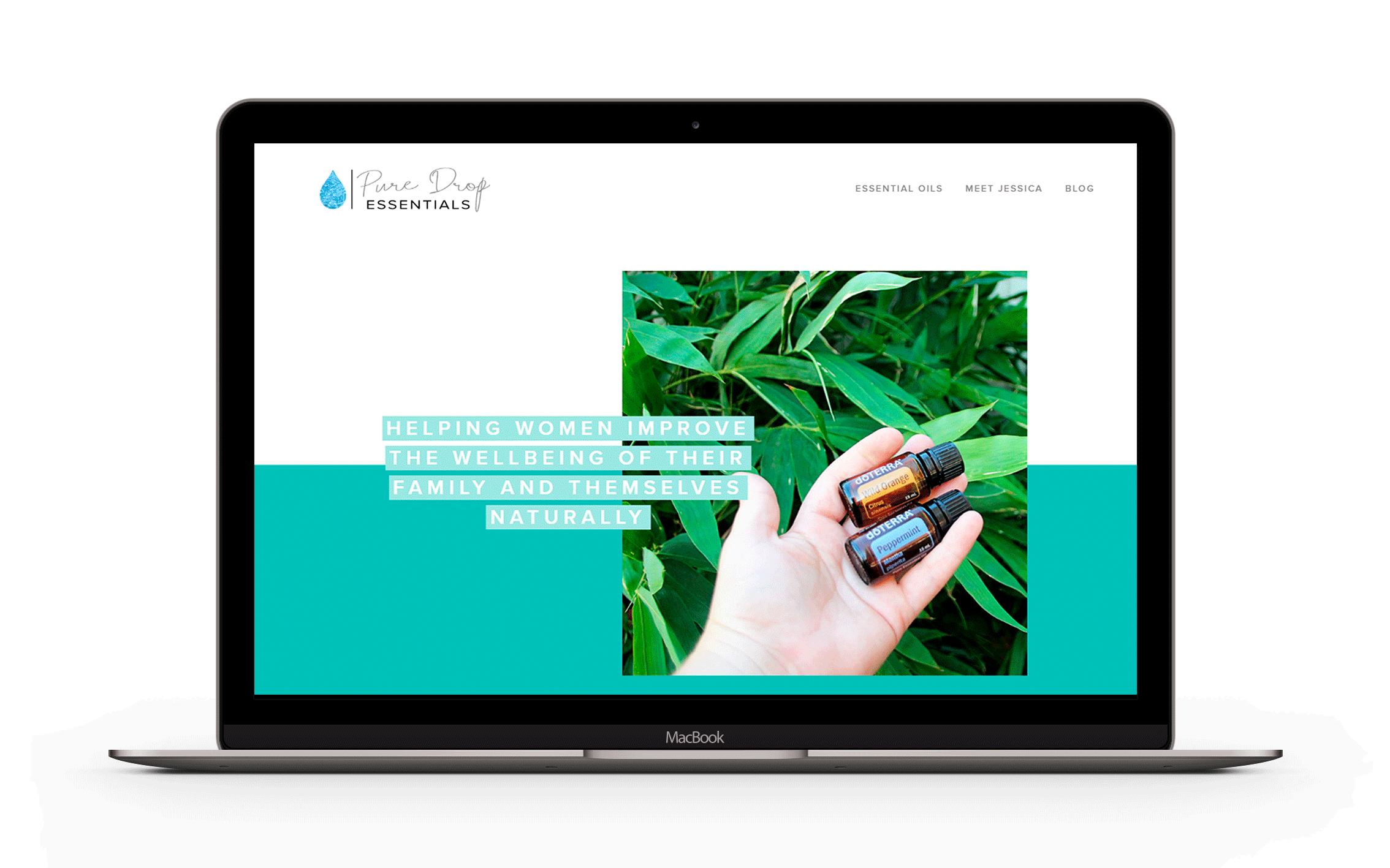 Squarespace Website Design for Pure Drop Essentials
